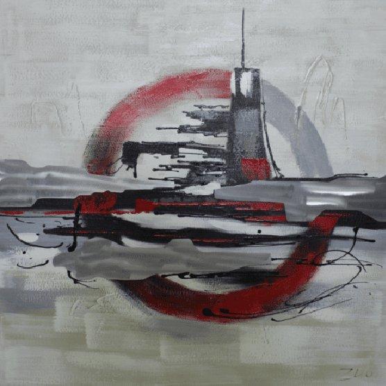Abstracte Schilderijen: Abstracte Onderzeeër Kunst