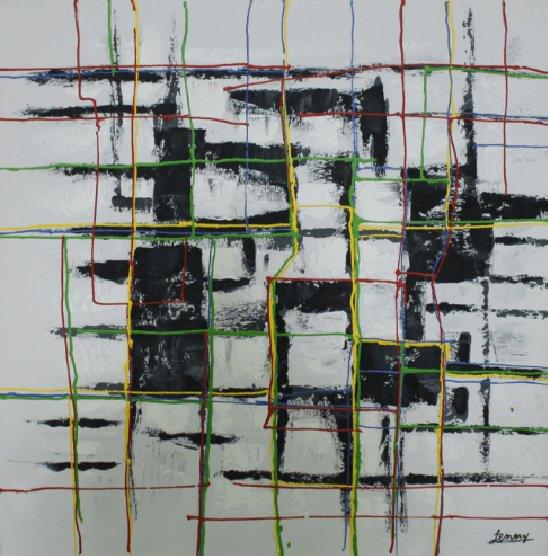 Abstracte Schilderijen: Abstract Moderne Vakken Kunst