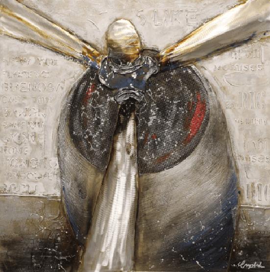 Rijtuigen Schilderij: Vliegtuig Propeller Schilderij
