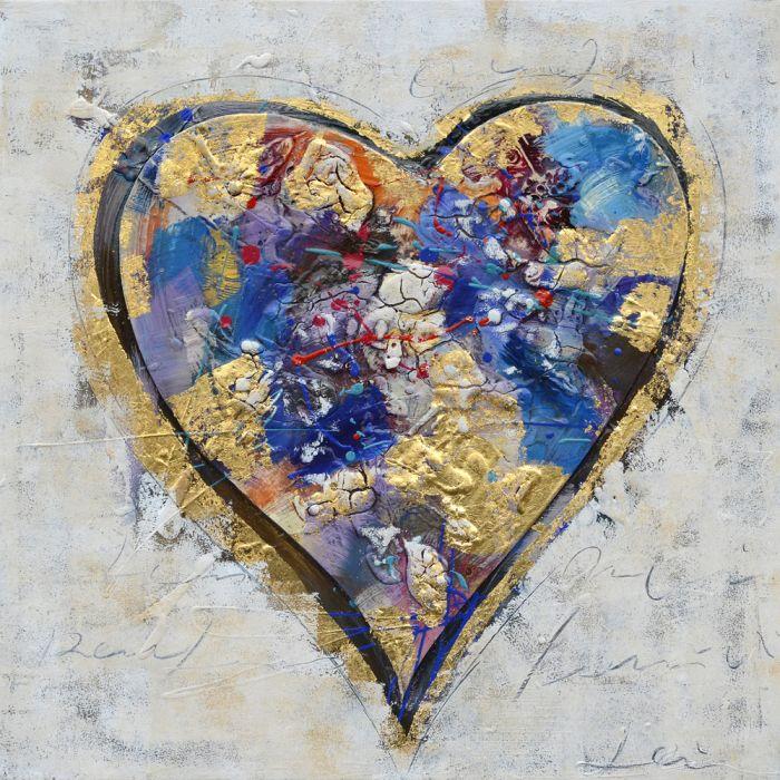 Kleurrijke Schilderijen: Kleurvolle Liefdeshart Schilderij