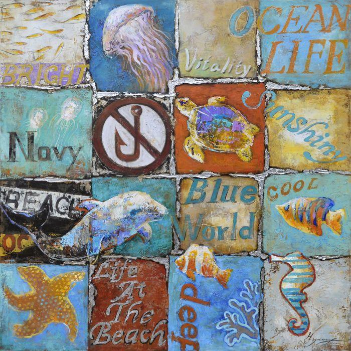 Foto Kunst Schilderijen: Olieverf schilderij zee maritiem thema