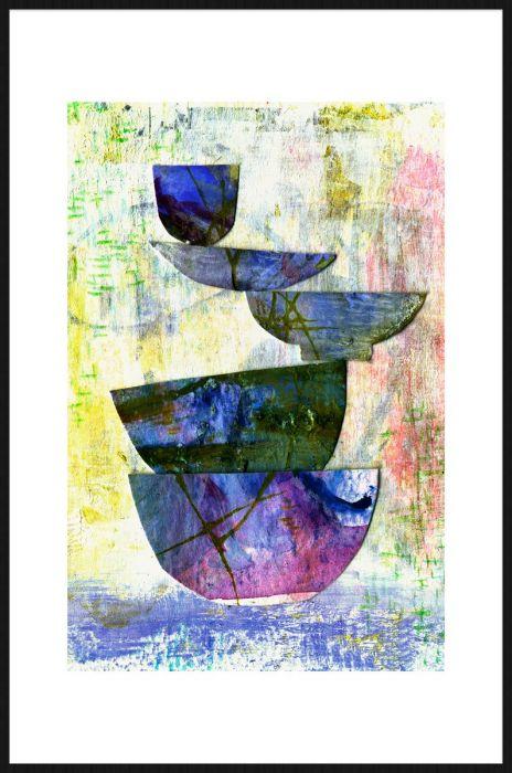 Foto Kunst Schilderijen: Art & Crafts Kopjes Kommen Kleurrijk