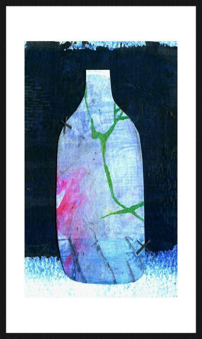Foto Kunst Schilderijen: Blauwe Vaas Wandkraft Collectie