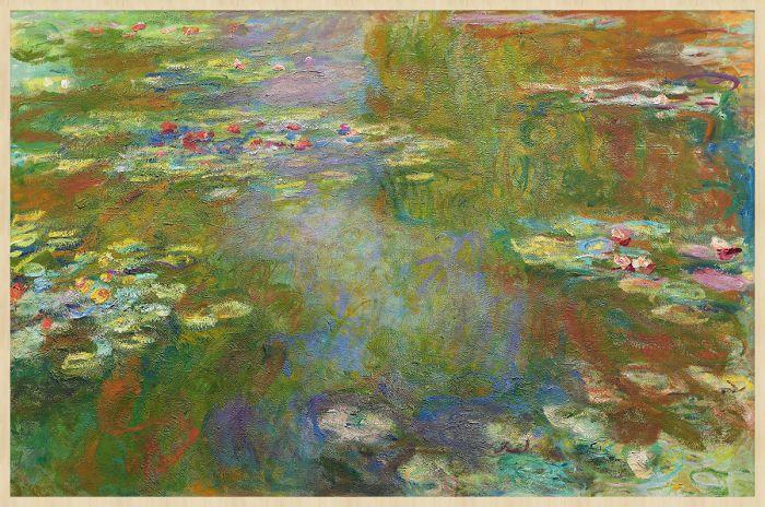 Abstracte Schilderijen: Kleurrijke Vijver En Waterlelies Collectie Wandkraft