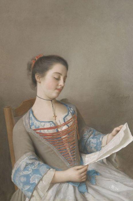 Figuratieve Schilderijen: Dibond schilderij lezend meisje