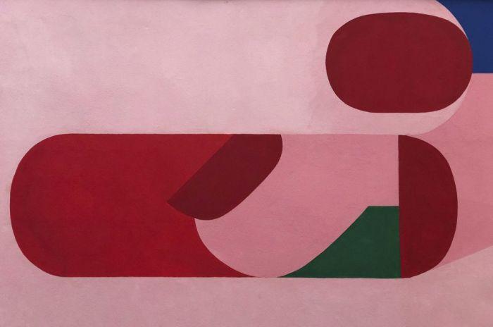 Abstracte Schilderijen: Dibond schilderij funky 002