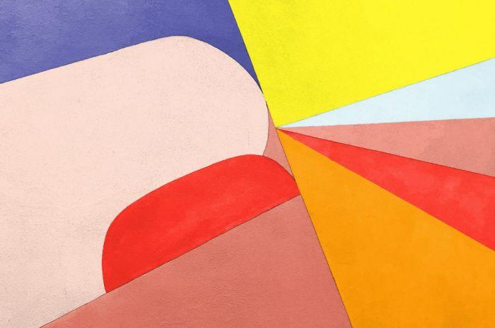Abstracte Schilderijen: Dibond schilderij funky 003