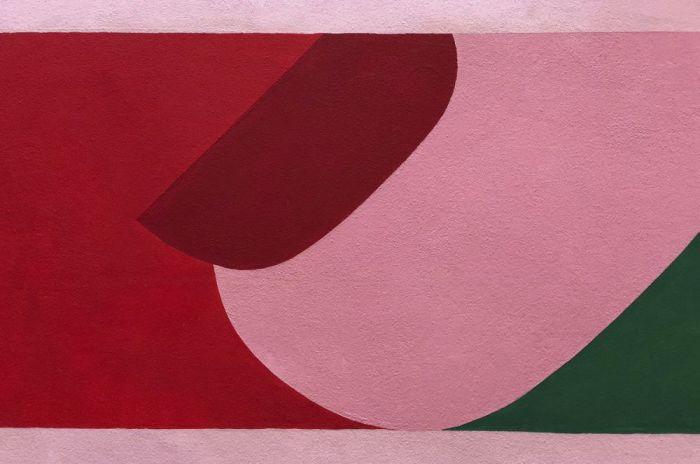 Abstracte Schilderijen: Dibond schilderij funky 004