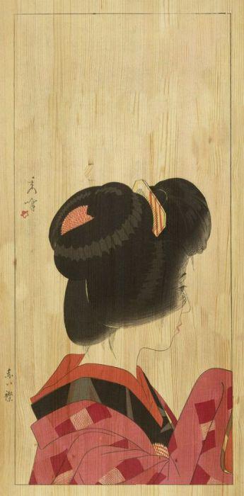 Figuratieve Schilderijen: LAND OF THE RISING SUN 001 Geisha