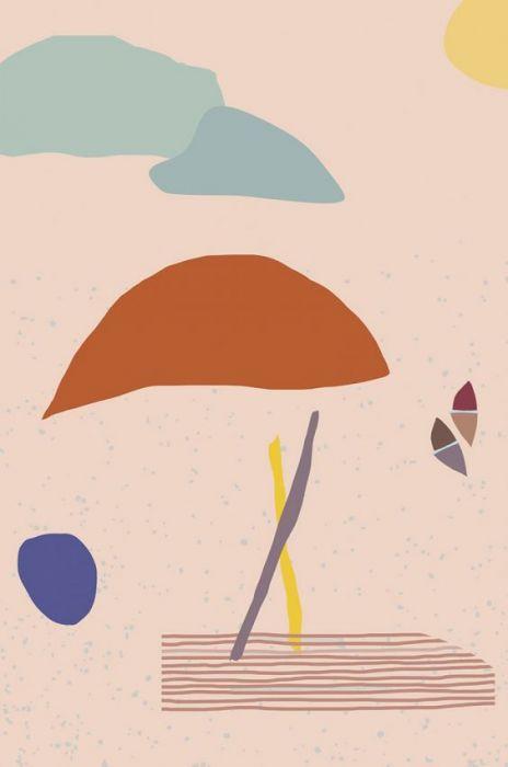 Abstracte Schilderijen: Dibond schilderij funky 005