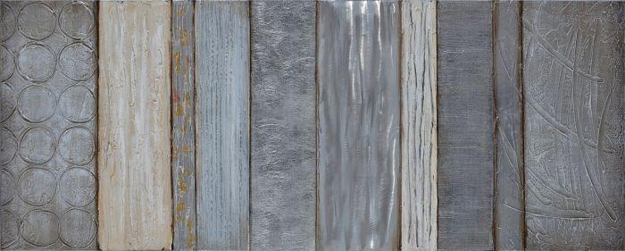 Moderne Schilderijen: Schilderij Structuur Abstract Latten 150x60