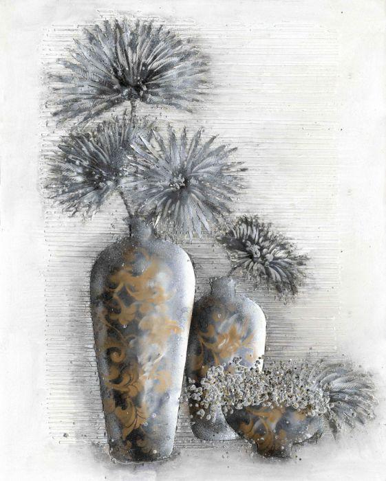 Bloemen Schilderijen: Grote Bloemen Vazen Schilderij