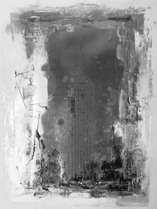 Abstracte Schilderijen: Antraciet Wit Zwarte Abstracte Kunst