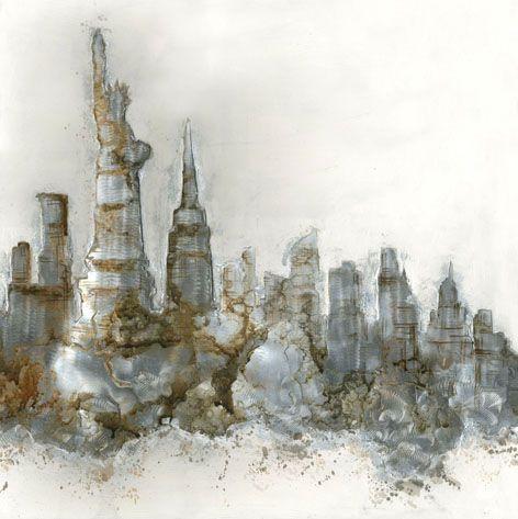 Landschappen Schilderijen: Abstract New York Kunst