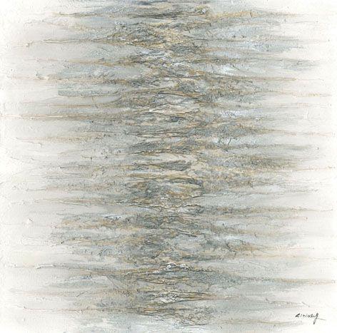 Abstracte Schilderijen: Grijze Massa Abstracte Kunst