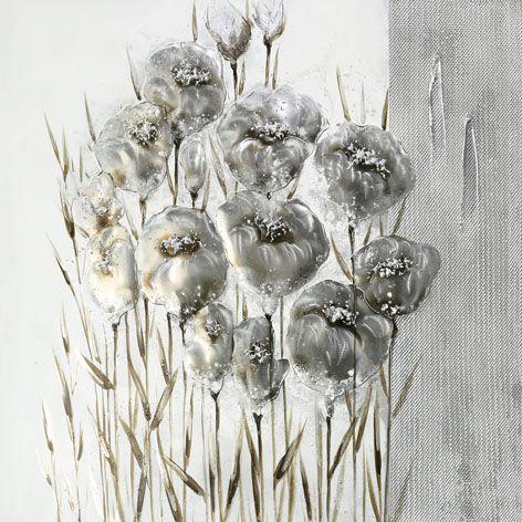 Bloemen Schilderijen: Grijze Tulpen Schilderij