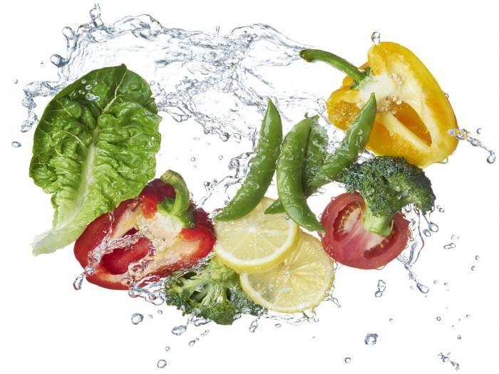 Eten & Drinken Schilderijen: Groente Water Gezond Glas Schilderij 80x60