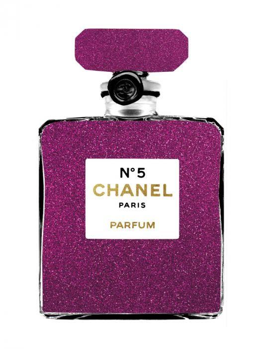 Foto Kunst Schilderijen: Chanel N5 Paris Parfum Goudfolie Glas Schilderij 60x80