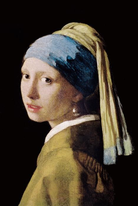 Figuratieve Schilderijen: Replica Glas Schilderij Meisje Met De Parel Johannes Vermeer 80x120