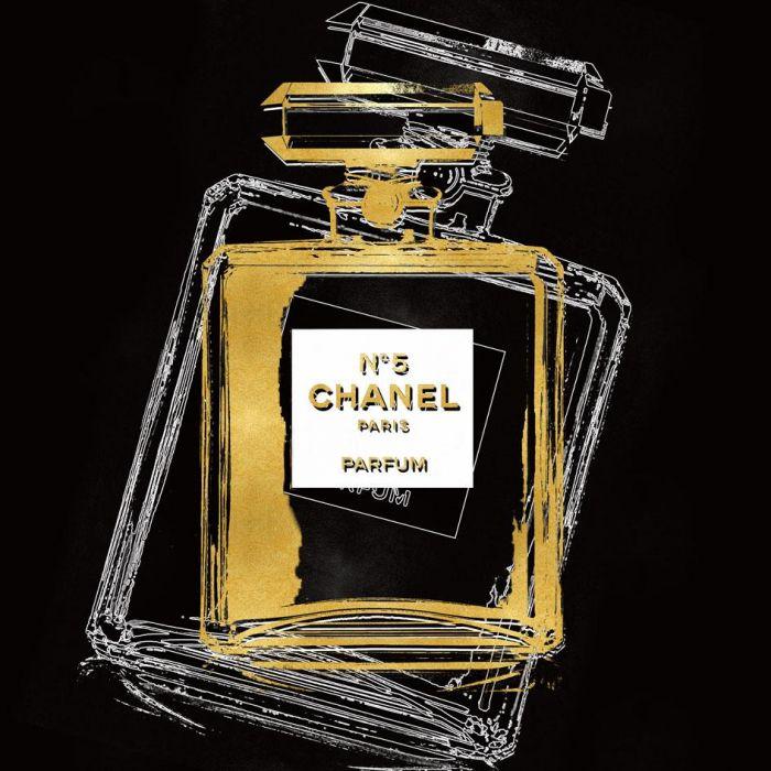 Foto Kunst Schilderijen: Chanel N 5 Paris Schilderij 80x80