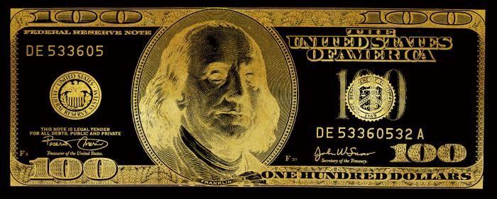 Foto Kunst Schilderijen: 100 Dollar Negatief Sepia United States Of America 200x80