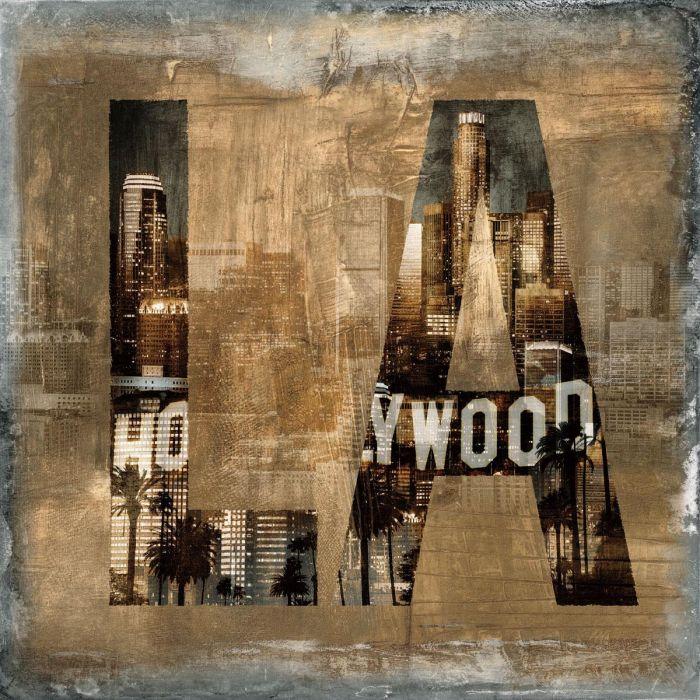 Foto Kunst Schilderijen: Hollywood LA Steden Urban City Schilderij