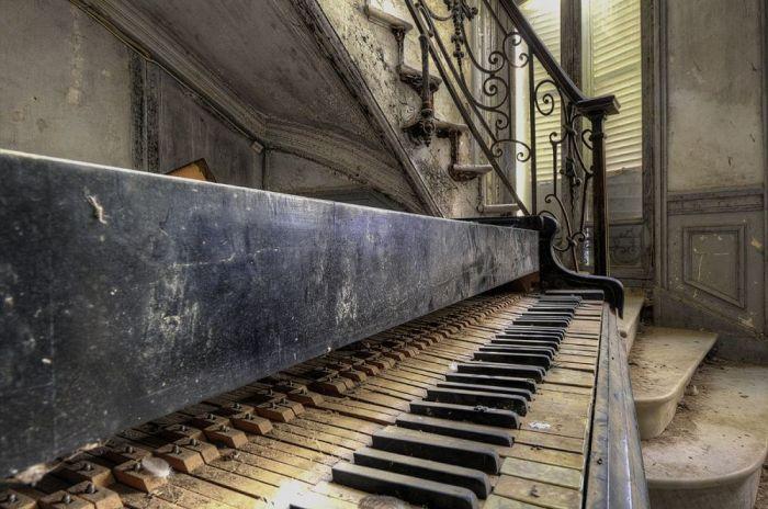 Foto Kunst Schilderijen: Goodman Images Piano Trap Wandkraft RVS Collectie