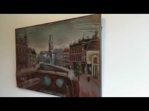 3D schilderijen: 3D Schilderij met een uitzicht op de stad 120x80 100% 3D Schilderijen - Schilderijbestellen