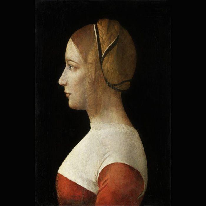 Figuratieve Schilderijen: Portret van een jonge vrouw Dibond Schilderij Wandkraft