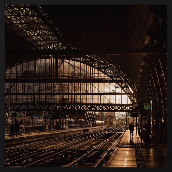 Figuratieve Schilderijen: Treinstation Rails Frame Werk Industrieel Heritage Wandkraft Forex Collectie