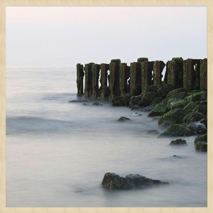 Foto Kunst Schilderijen: Oceaan Zeezicht Palen Stenen Travel Stories Wandkraft Collectie Forex Schilderijen