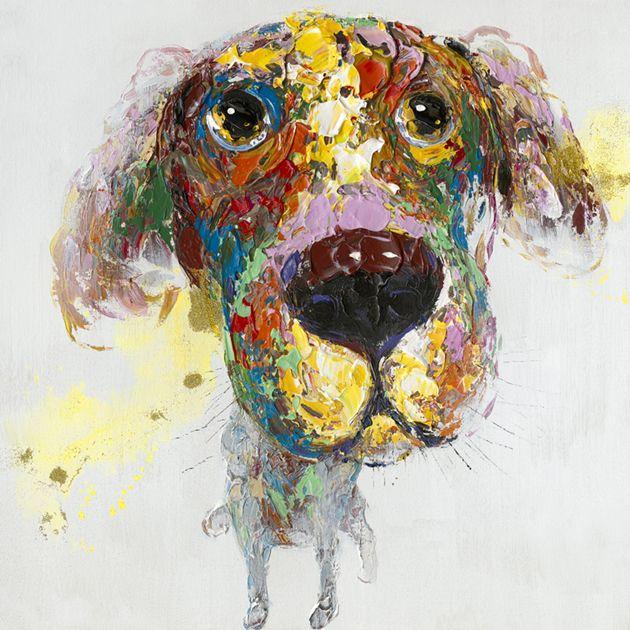 Dieren Schilderijen: Kleurrijke Retriever Schilderij