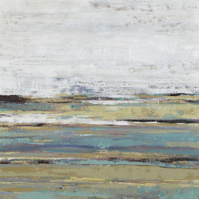 Abstracte Schilderijen: Pastelkleurige Lagen Schilderij