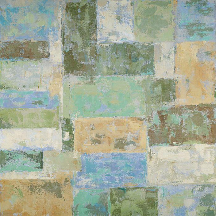 Moderne Schilderijen: Pastel Kleuren Abstract Schilderij