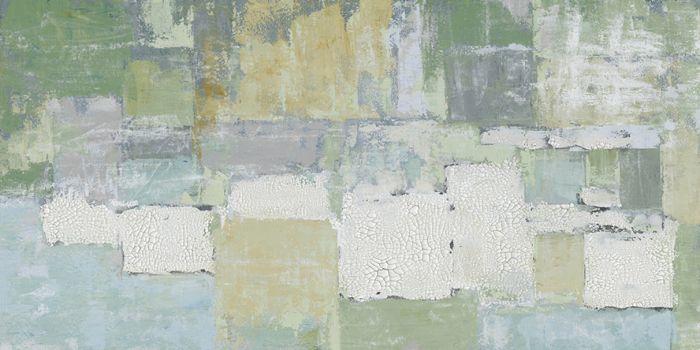 Abstracte Schilderijen: Vierkanten Vormen Schilderij