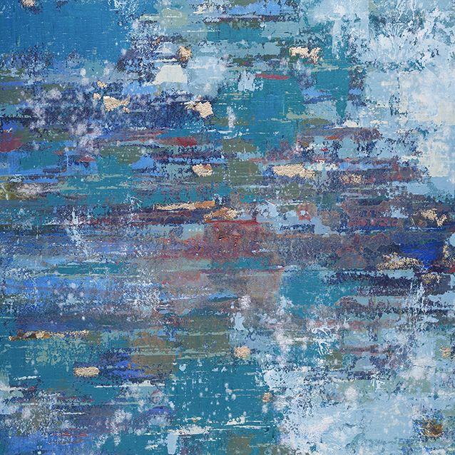 Abstracte Schilderijen: Blauw Abstract Schilderij