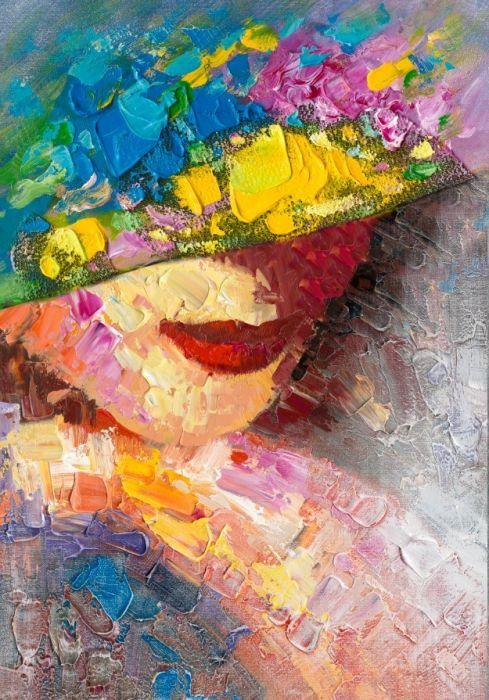 Figuratieve Schilderijen: Vrouwelijke Schone Schilderij