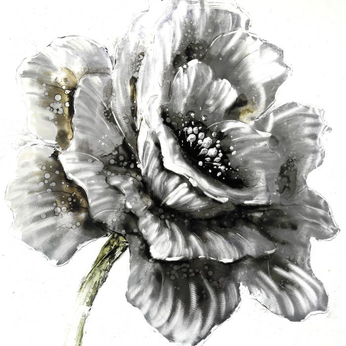 Bloemen Schilderijen: Bloeiende Roos Schilderij