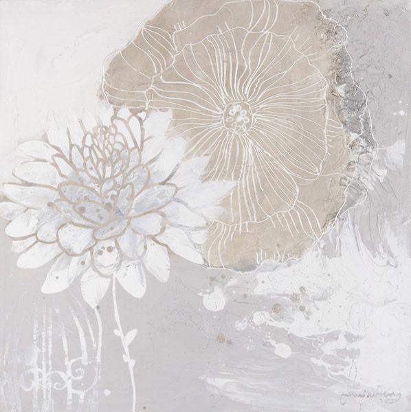 Bloemen Schilderijen: Pastel Anjer Schilderij