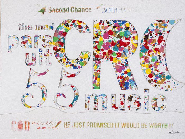 Kleurrijke Schilderijen: 55 Music Schilderij