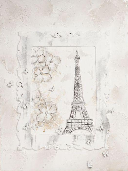Gebouwen Schilderijen: Klassieke Eiffeltoren Schilderij