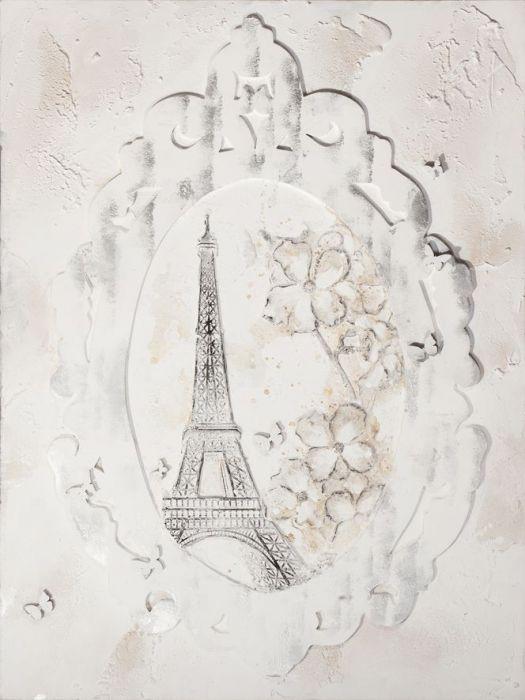 Gebouwen Schilderijen: Eiffeltoren Klassiek Schilderij