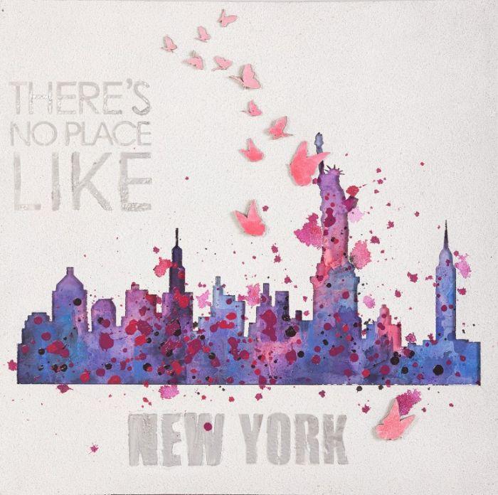 Kleurrijke Schilderijen: Schilderij van olieverf Like NEW YORK