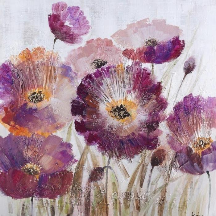 Bloemen Schilderijen: Olieverf schilderij herfstachtige bloemen