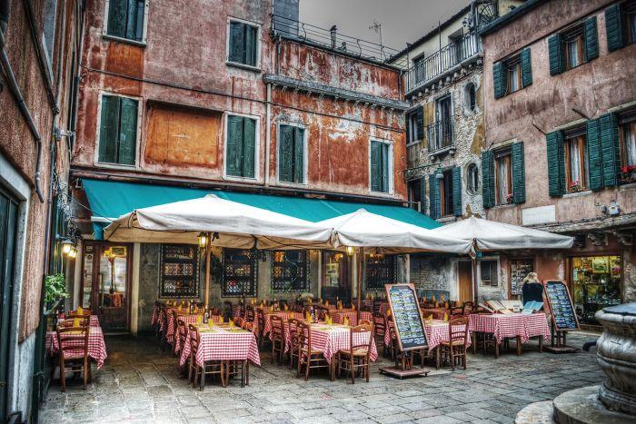 Foto Kunst Schilderijen: Glas schilderij foto kunst terras restaurant
