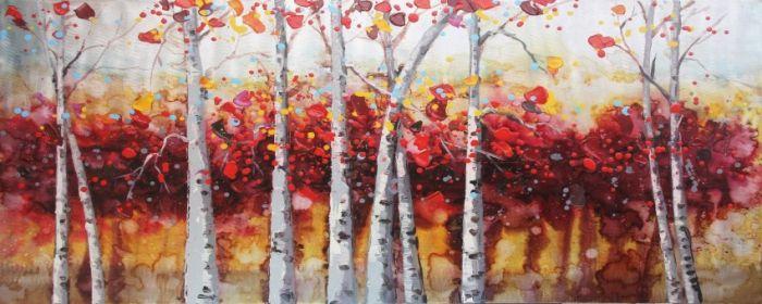 Landschappen Schilderijen: Herfst Bosrijk Schilderij