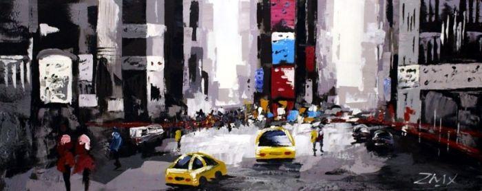 Gebouwen Schilderijen: New York Schilderij