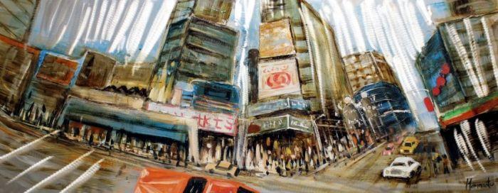Gebouwen Schilderijen: New York Time Square Schilderij