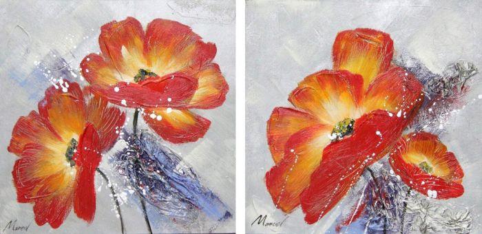 Bloemen Schilderijen: Rode Papavers Schilderij
