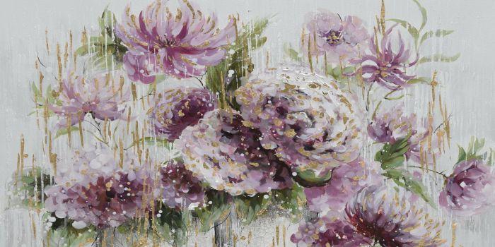Bloemen Schilderijen: Paarse Bloemen Schilderij